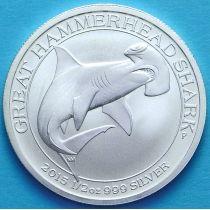 Австралия 50 центов 2015 год. Акула молот. Серебро