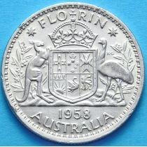 Австралия 1 флорин 1958 год. Серебро