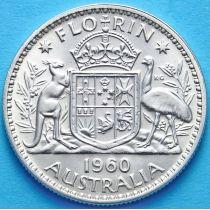 Австралия 1 флорин 1960 год. Серебро