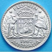 Австралия 1 флорин 1962 год. Серебро