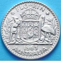 Австралия 1 флорин 1963 г. Серебро