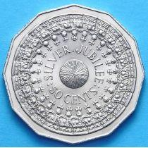 Австралия 50 центов 1977 г. 25 лет правления