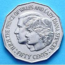 Австралия 50 центов 1981 г. Свадьба Принца Чарльза