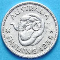 Австралия 1 шиллинг 1939 год. Серебро