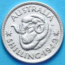 Австралия 1 шиллинг 1942 год. Серебро