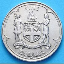 Фиджи 1 доллар 1969 год. Герб.