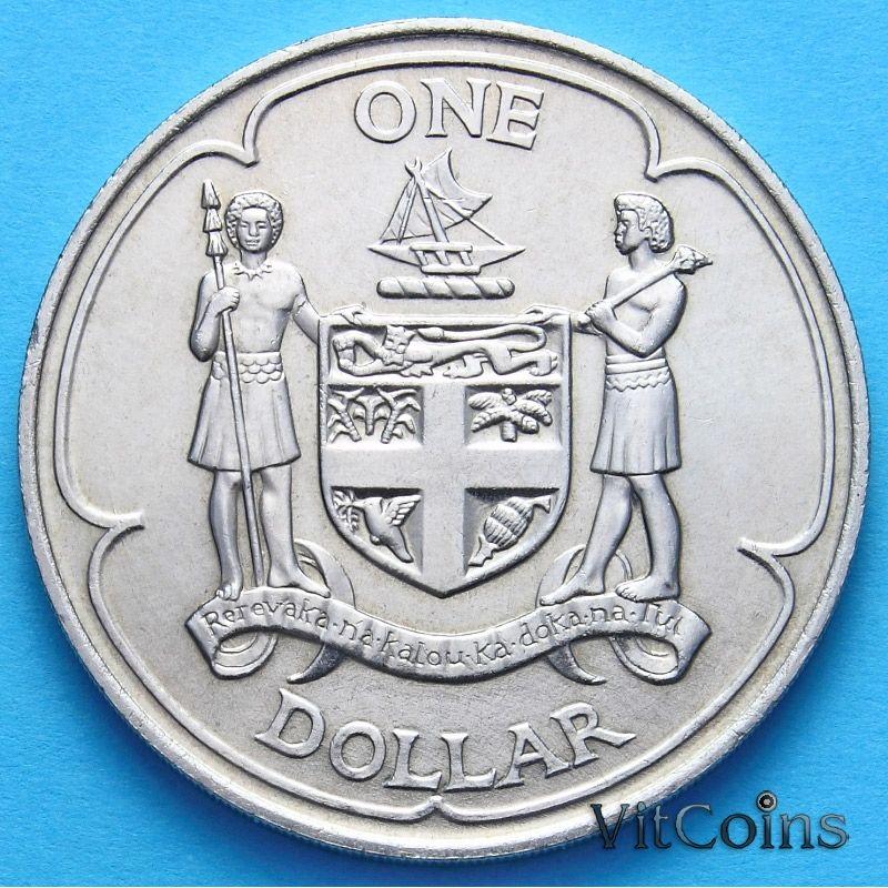 Монета Фиджи 1 доллар 1969 г. Герб