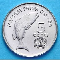 Фиджи 5 центов 1995 год. ФАО.