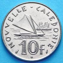 Новая Каледония 10 франков 1990 год.