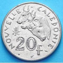Новая Каледония 20 франков 1990-2002 год.