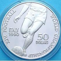 Ниуэ 50 долларов 1990 год. Футбол. Серебро