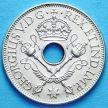 Монета Британской Новой Гвинеи 1 шиллинг 1935 г. Серебро