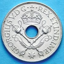 Британская Новая Гвинея 1 шиллинг 1935 г. Серебро