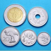 Папуа Новая Гвинея набор 5 монет 2005-2010 год.
