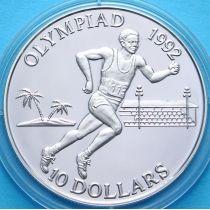 Соломоновы острова 10 долларов 1991 год. Олимпиада. Серебро