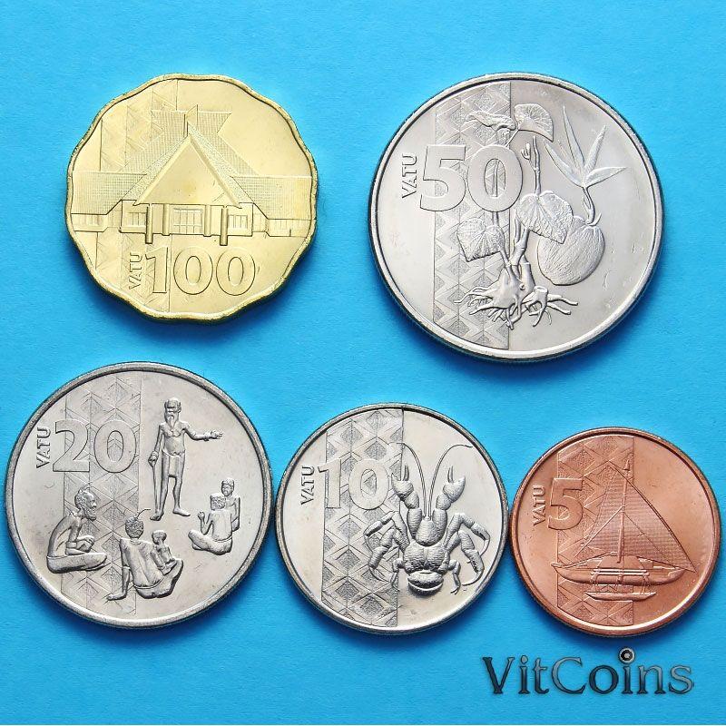 Набор 5 монет Вануату 2015 г.