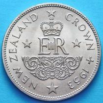 Новая Зеландия 1 крона 1953 год. Коронация королевы Елизаветы II