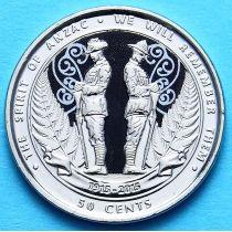 Новая Зеландия 50 центов 2015 год. Дух АНЗАК.