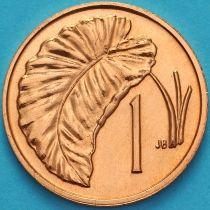 Острова Кука 1 цент 1974 год. Лист Таро.