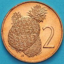 Острова Кука 2 цента 1974 год. Ананас.