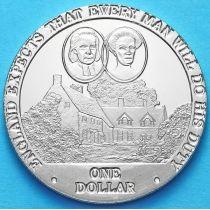 Острова Кука 1 доллар 2007 год. Родители Горацио Нельсона.