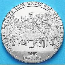 Острова Кука 1 доллар 2007 год. Совет перед сражением.