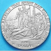 Острова Кука 1 доллар 2007 год. Смертельное ранение.