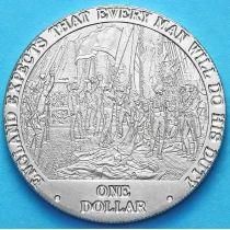 Острова Кука 1 доллар 2007 год. Начало Трафальгарского сражения.