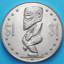 Острова Кука 1 доллар 1973 год. Тангароа.