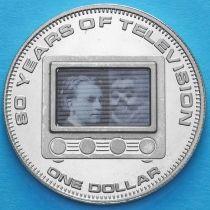 Острова Кука 1 доллар 2006 год. Телевидение.