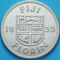 Фиджи 1 флорин 1835 год. Серебро.