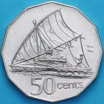 Фиджи 50 центов 2000 год. Парусное каноэ