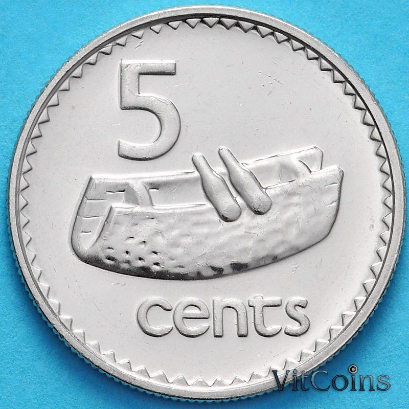 Монета Фиджи 5 центов 2006 год.