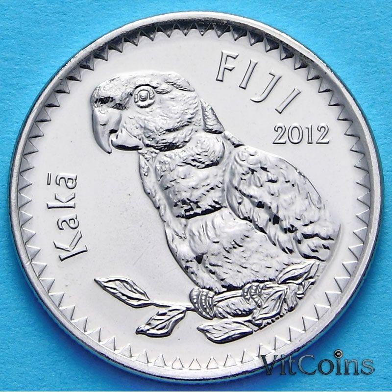 Монета Фиджи 20 центов 2012 год.