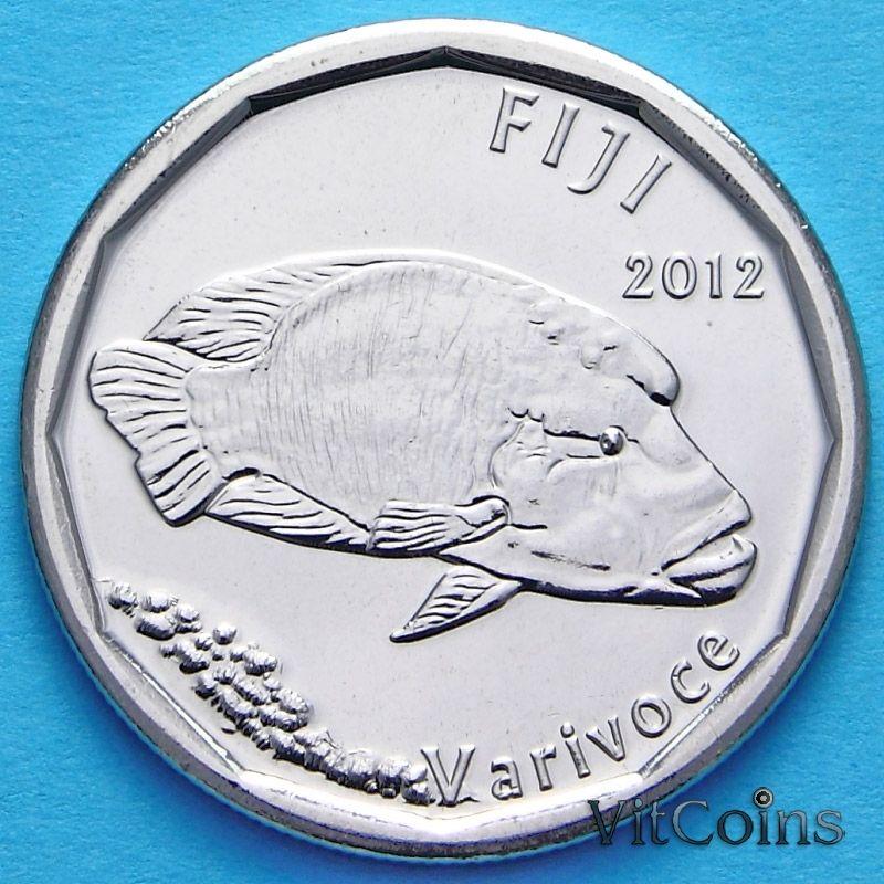 Монета Фиджи 50 центов 2012 год.