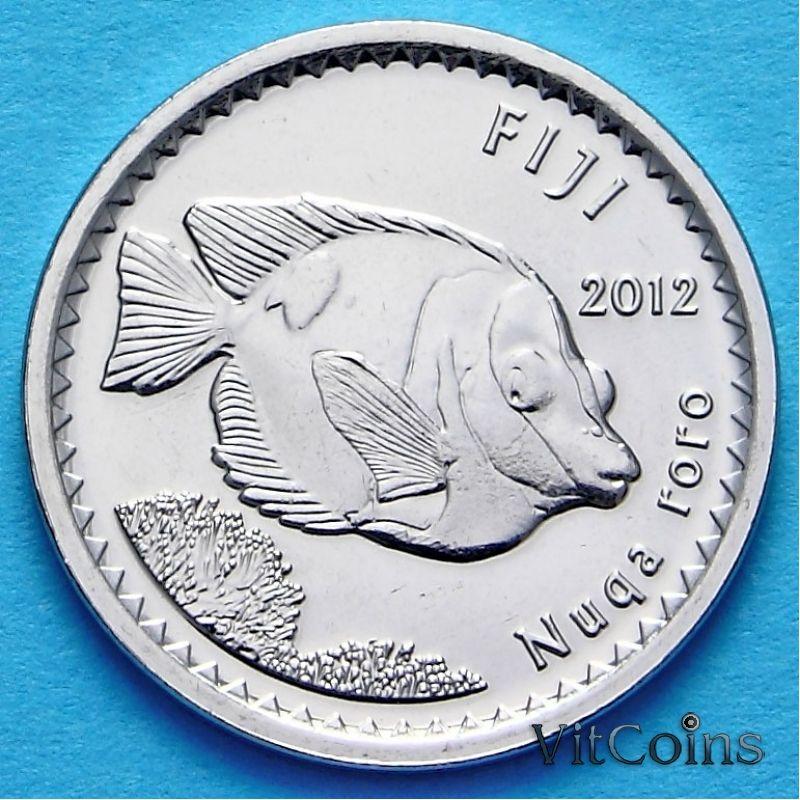 Монета Фиджи 5 центов 2012 год.