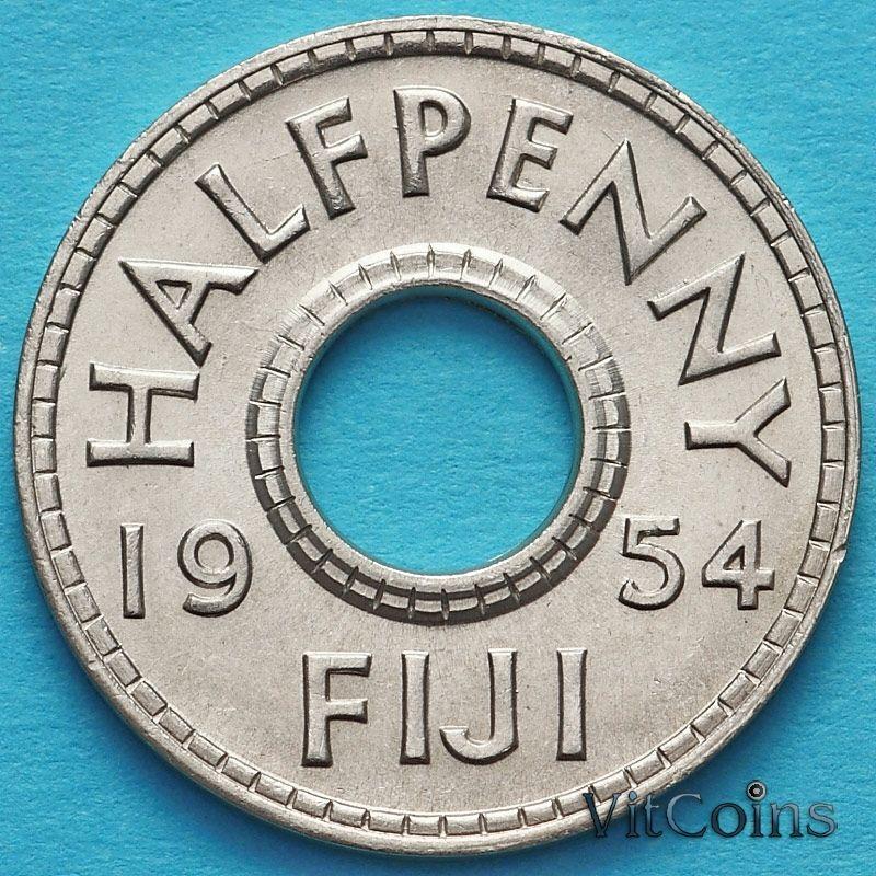 Монета Фиджи 1/2 пенни 1954 год.
