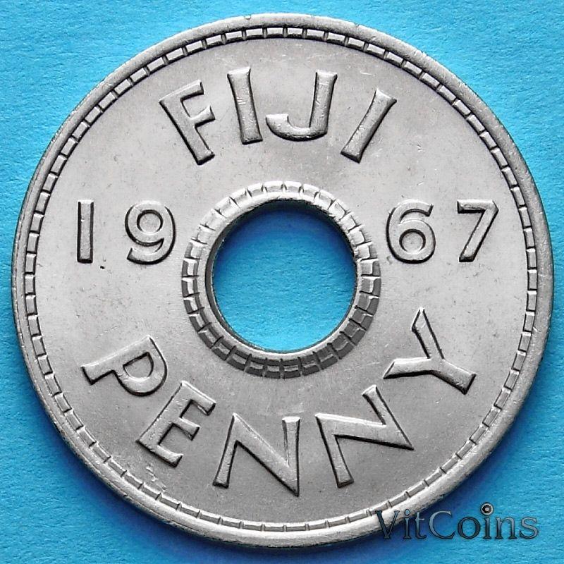 Монета Фиджи 1 пенни 1967 год.
