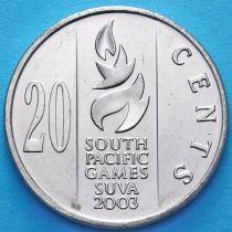 Фиджи 20 центов 2003 год. Тихоокеанские игры 2003.