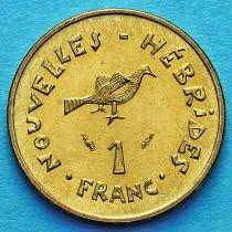Новые Гебриды 1 франк 1979 год.