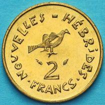 Новые Гебриды 2 франка 1979 год.