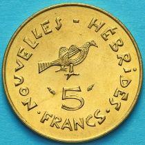 Новые Гебриды 5 франков 1979 год.