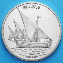 Острова Гилберта 1 доллар 2016 год. Нинья.