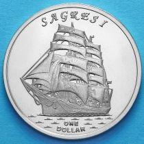 Острова Гилберта 1 доллар 2017 год. Сагреси.
