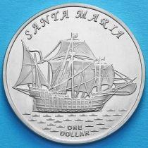 Острова Гилберта 1 доллар 2016 год. Санта Мария.