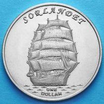 Острова Гилберта 1 доллар 2017 год. Сорландет.