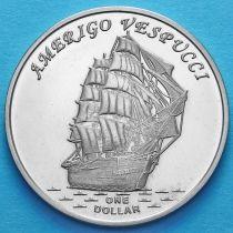 Острова Гилберта 1 доллар 2017 год. Америго Веспуччи.