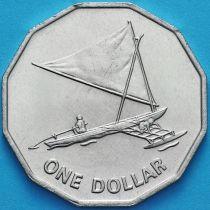 Кирибати 1 доллар 1979 год. Парусное судно проа.
