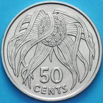 Кирибати 50 центов 1979 год. Орех пандауса.
