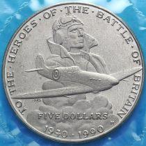 Маршалловы острова 5 долларов 1990 год. 40 лет Битве за Британию.